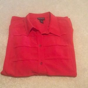 Maggie Barnes shirt sz2Xcoral color new